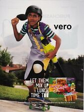KRAFT LUNCHABLES magazine ad 2014 print clipping with smoothie boy on skateboard