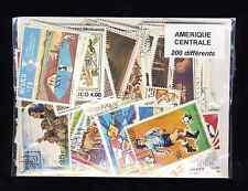 Amérique Centrale 200 timbres différents oblitérés tous pays