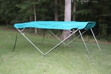 "NEW VORTEX TEAL BIMINI TOP 12' LONG, 97-103"" WIDE 4 BOW PONTOON/DECK BOAT"
