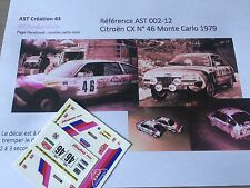 Decal 1 43 CITROEN CX N°46  Rally WRC monte carlo 1979 montecarlo