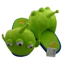 One Pair Toy Story Alien Green Men Soft Plush Slipper Warm Home Shoes