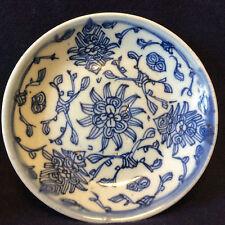 Chine Guangdong coupelle porcelaine céladonnée décor blanc bleu cachet XIX e