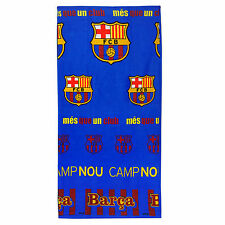 FC Barcelona Official Football Gift Velour Bath Beach Towel Blue