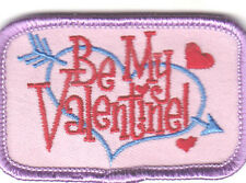 """""""BE MY VALENTINE"""" IRON ON EMBROIDERED PATCH - LOVE - HEARTS - VALENTINE"""