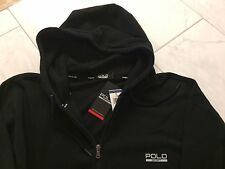 NWT POLO RALPH LAUREN LS BLACK HOODIE SWEATSHIRT FULL ZIPPER XLT XL TALL