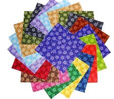 """30 5"""" Quilting Fabric Squares Beautiful Pretty Little Flowers!!"""