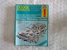 1978-1987 Dodge Plymouth Colt & Champ Manual