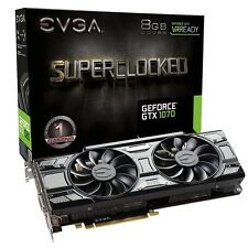 BRAND NEW EVGA GEFORCE GTX 1070 SUPERCLOCKED 8GB VIDEO GRAPHICS CARD AUTHENTIC