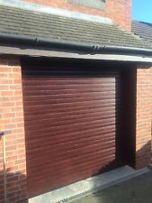 Roller Shutter Garage Door Rosewood Or Golden Oak Electric Aluminium Sealed