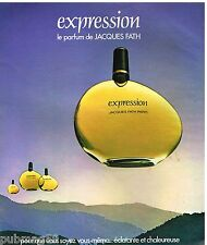 Publicité Advertising 1977 Parfum Expression de Jacques fath