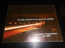 Prospekt Sales Brochure Chrysler Corporation 1961 Pick up Dodge Simca Couepe Car