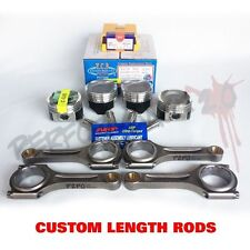 YCP 75.5mm D16 Vitara Pistons + NPR Rings & Custom Length Rods TEFLON ARP2000
