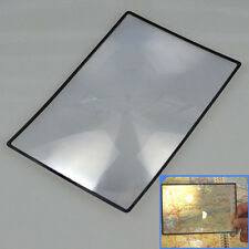 A5 Flat PVC Magnifying Sheet X3 Book Page Fresnel Lens Magnifier Reading Glass