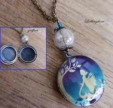 Medaillon,elfe locket retro pusteblume dandelion fairy,Vintage,medallion,photo