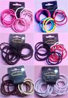 SET 12 ENDLESS HAIR ELASTICS PONYTAIL BAND COLOUR CHOICE GYM SCHOOL SNAG FREE