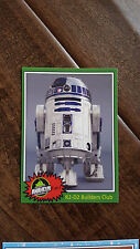 2015 SWCA STAR WARS CELEBRATION R2D2 BUILDERS CLUB PROMO CARD # 1 STANDARD SIZE