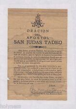 ORACION DEL APOSTOL SAN JUDAS TADEO / PONCE PUERTO RICO / 1920's - 30's