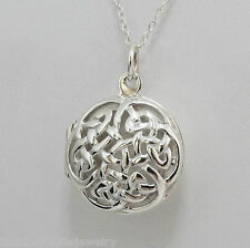 Celtic Knot Locket Necklace - 925 Sterling Silver - Celtic Locket Love Knot NEW