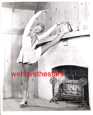 Vintage Belita ON ICE SKATES EXERCISES AT HOME 40s Publicity Portrait