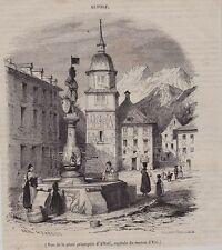 1845  --  SUISSE   VUE DE LA PLACE D ALTORF  CANTON D URI   3I154