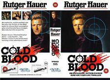 Cold Blood, Rutger Hauer Video Promo Sample Sleeve/Cover #15530