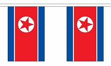 NORTH KOREA 3 METRE BUNTING 10 FLAGS flag 3M KOREAN