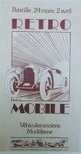 """EXPO RETRO MOBILE 1978"" Affiche originale entoilée Offset A. MOITRIER  37x67cm"