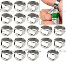 20pcs Stainless Steel Finger Thumb Men Ring Bottle Opener Bar Beer Silver SZ 10