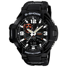 Casio G-Shock GA1000-1A Aviation Series Twin Sensor Black Resin Men's Watch