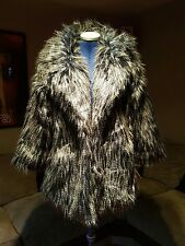 Boho Faux fur emu effect jacket size M