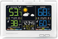NEW! La Crosse Wireless Color Weather Station C87030 White (same as C85845)