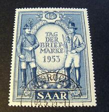 """GERMANIA,Germany SARRE SAAR 1953 """"Giornata del Francobollo"""" 1V.Cpl set Used"""