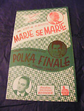 Partition Marie se Marie A Boccoz Polka Finale Robert Trabucco Raymond Boisserie