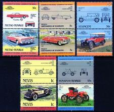 CADILLAC Collection of 10 Car Stamps (Auto 100 / Leaders of the World)