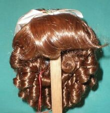 "doll wig brown 11"" to 11.5"" Glorex/Switzerland pageboy with small french curls"