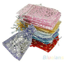 MIX COLOR SMALL 25X ORGANZA JEWELRY WEDDING POUCH BAGS 7X7CM 3X3 INCH B65K B64U