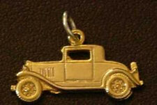 WOW Ford Model A Car Replica Pendant Sterling Silver Charm 24kt Gold Plated Jewe