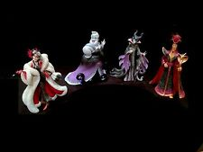 Couture de Force Disney Villains 4-Piece Set! Ursula, Maleficent, Jafar&Cruella!