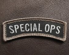 SPECIAL OPS TAB ROCKER USA ARMY MILITARY BLACK SWAT VELCRO® BRAND FASTENER PATCH