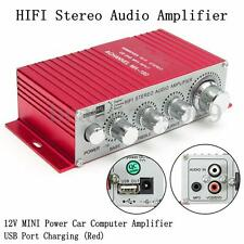 12V 5A Mini Hi-Fi Stereo Audio Motorcycle Amplifier AMP Boat Home Car Super Bass