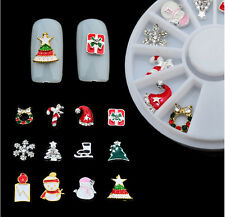 12 pcs 3D Nail Art Decoration Christmas Jewelry Alloy Glitter Rhinestones #68