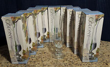 """Colony Orchid Vase Indiana Glass Made in Turkey 10.25"""" Height Lot of 8  NEW"""