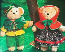 SEWING PATTERN Jean Greenhowe Nursery Tale Teddies Teddy Bear Cinderella 38cm