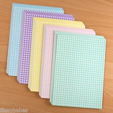 10 x A4 Double Sided Gingham Pastel Cardstock 250 GSM 5 Colours NEW