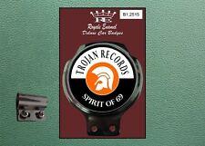 Royale Classic Car Badge & Bar Clip TROJAN SKA ROCKSTEADY REGGAE SKINS B1.2515