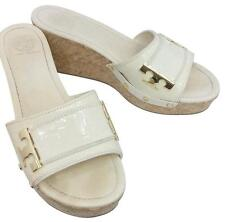 TORY BURCH LEATHER SLIDE SANDALS 10M