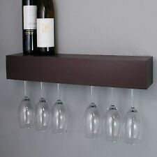 Wine Glass Rack Holder Wall Wood Hanging Storage Hanger Bar Mount Cabinet Shelf