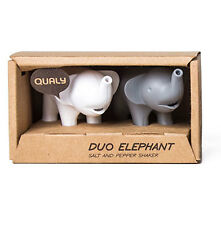 Duo Elephant with Stand Salt & Pepper Shaker Gift Set by Qualy Hostess Gift