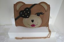 Betsey Johnson Cray Cray Creature Bear With Removeable Eye Patch Crossbody New
