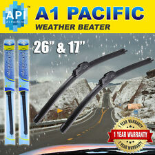 "All season Bracketless J-HOOK Windshield Wiper Blades OEM Premium 26""+ 17""(2PCS)"